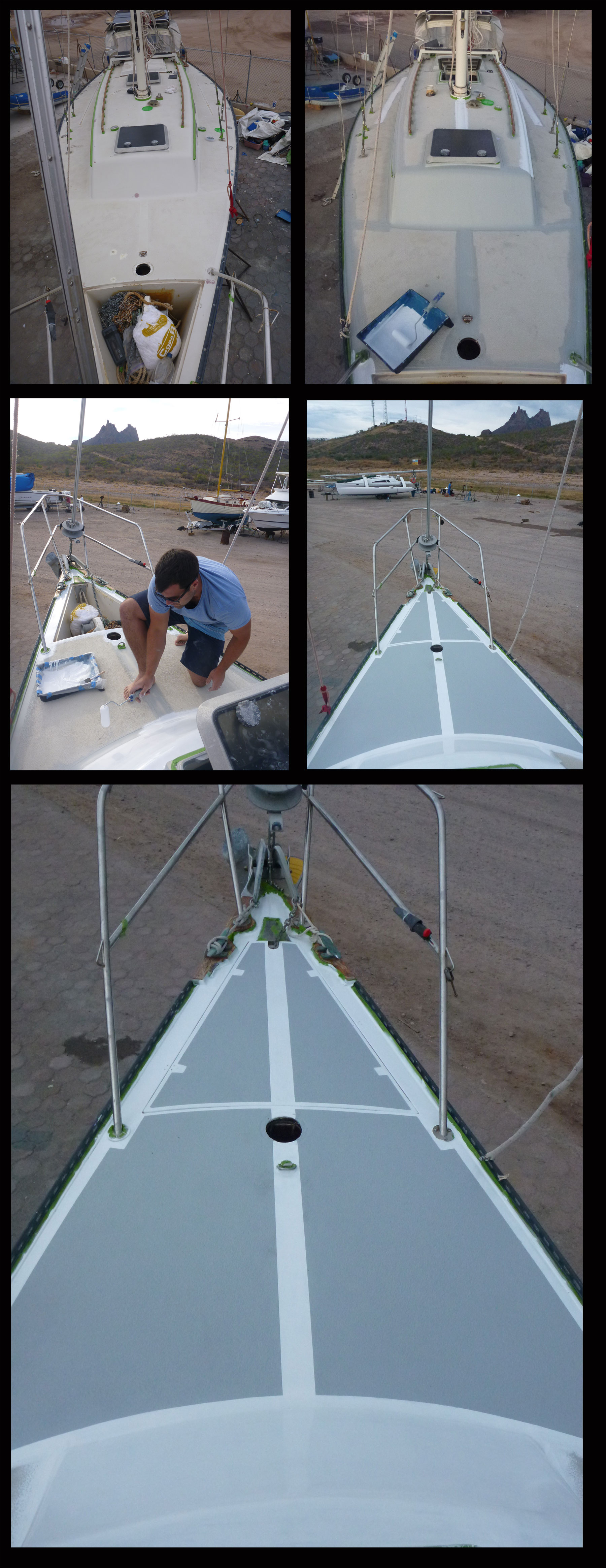 Interlux Sailboat Deck Painting - Interdeck in Grey and ...