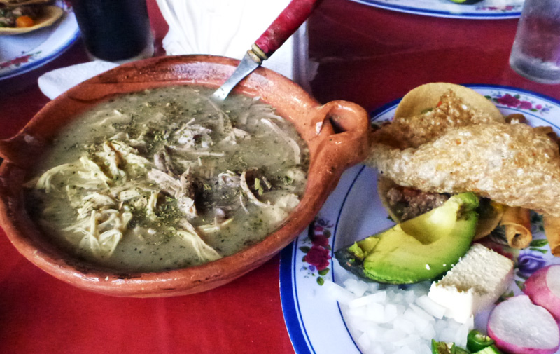 Posole -- The Thursday special in Acapulco