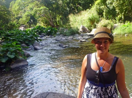 Leah Brio Hiking Waterfall
