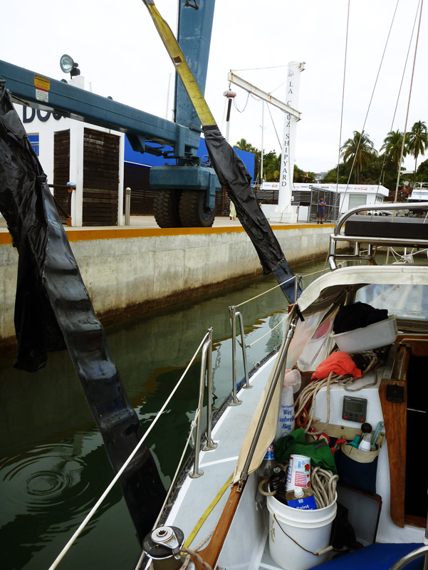 Getting the straps wrong -- at this point they were still on the leading edge of the keel