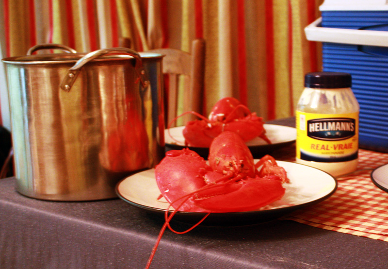 Maine lobsters -- brought across the border into Quebec and devoured