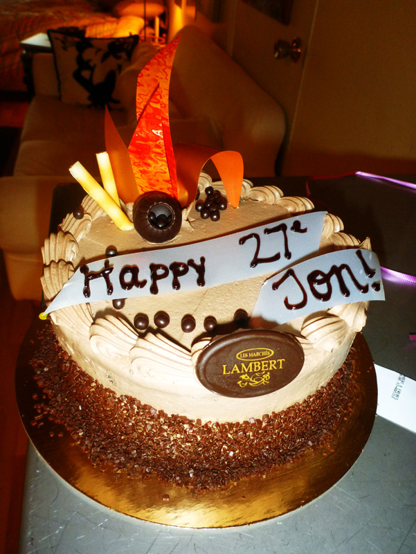 Happy 27ieme birthday (one month late)
