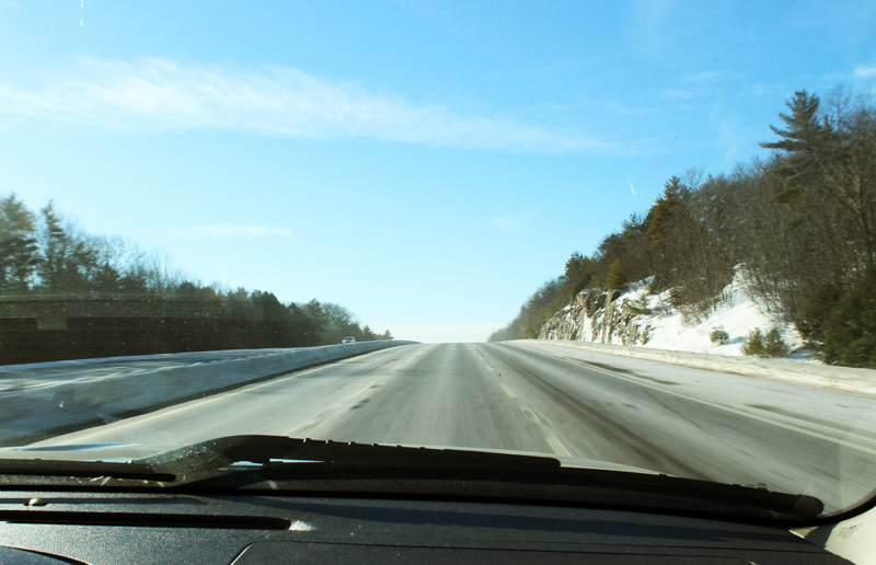 The drive to Montreal from Maine