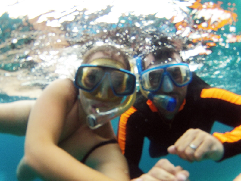 Snorkelling couple :)