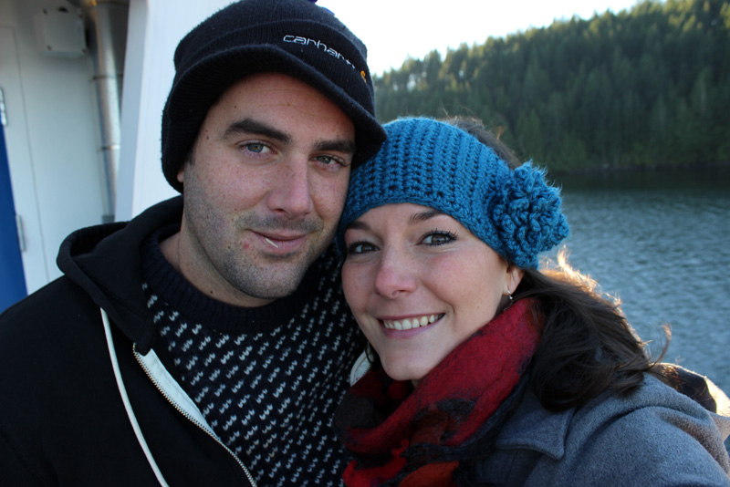 Jon and Leah on the ferry to Lund