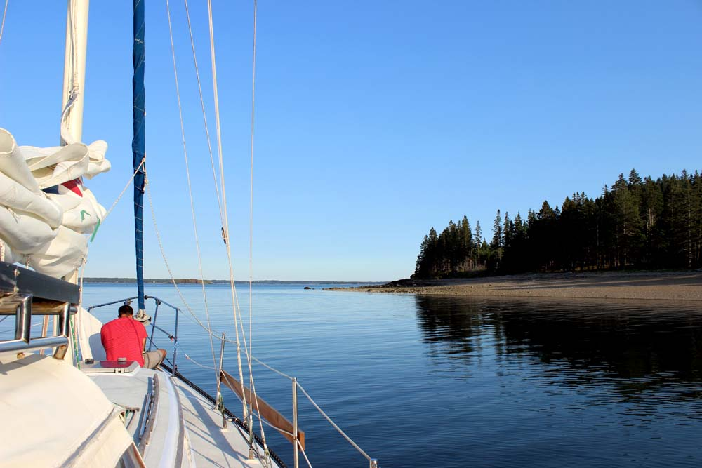 Anchoring in penobscot bay off Butter Island