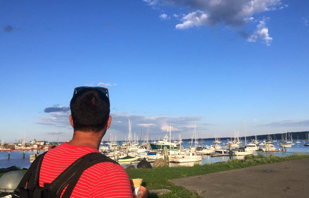 Exploring Rockland, Maine's waterfront