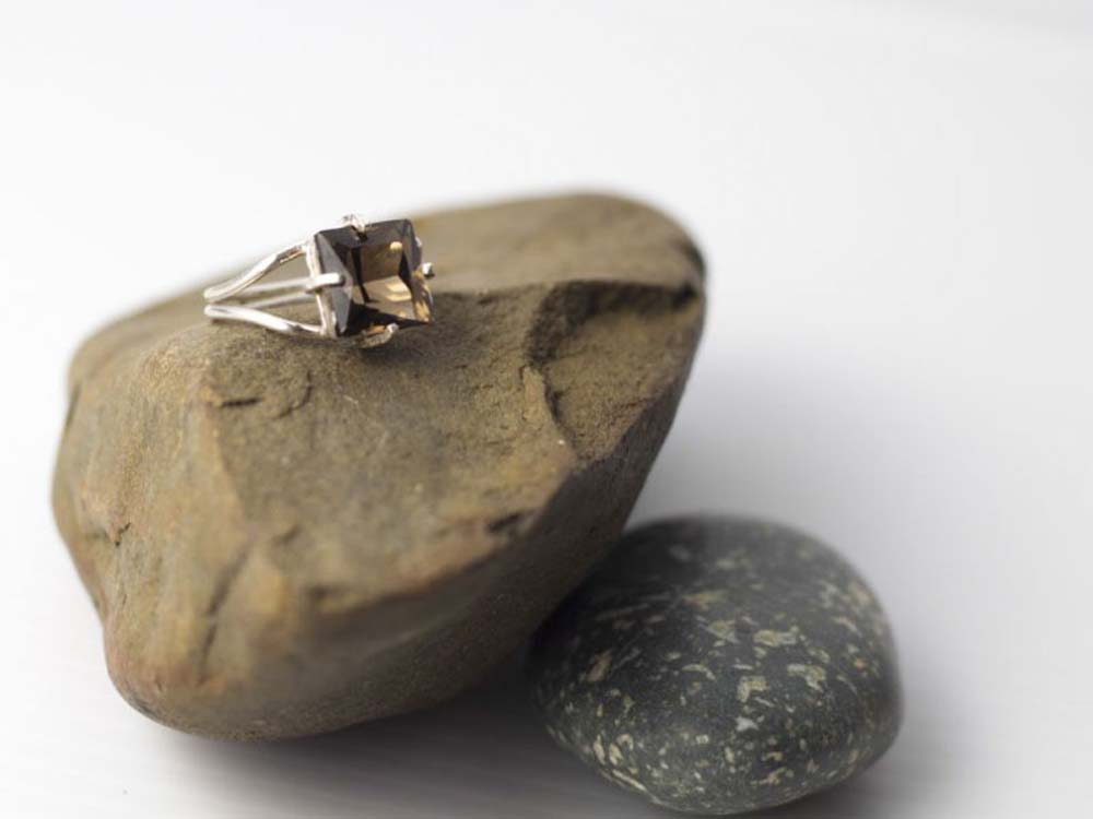 Bright Beyond Belief - Smoky Quartz Ring