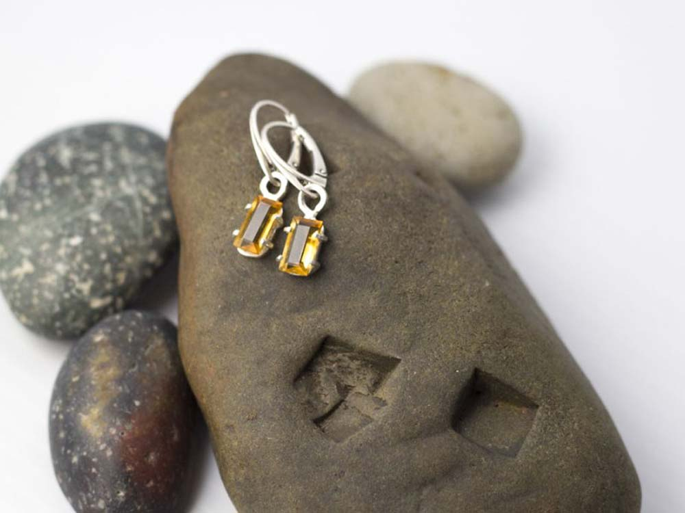 Bright Beyond Belief - Golden Citrine Earrings