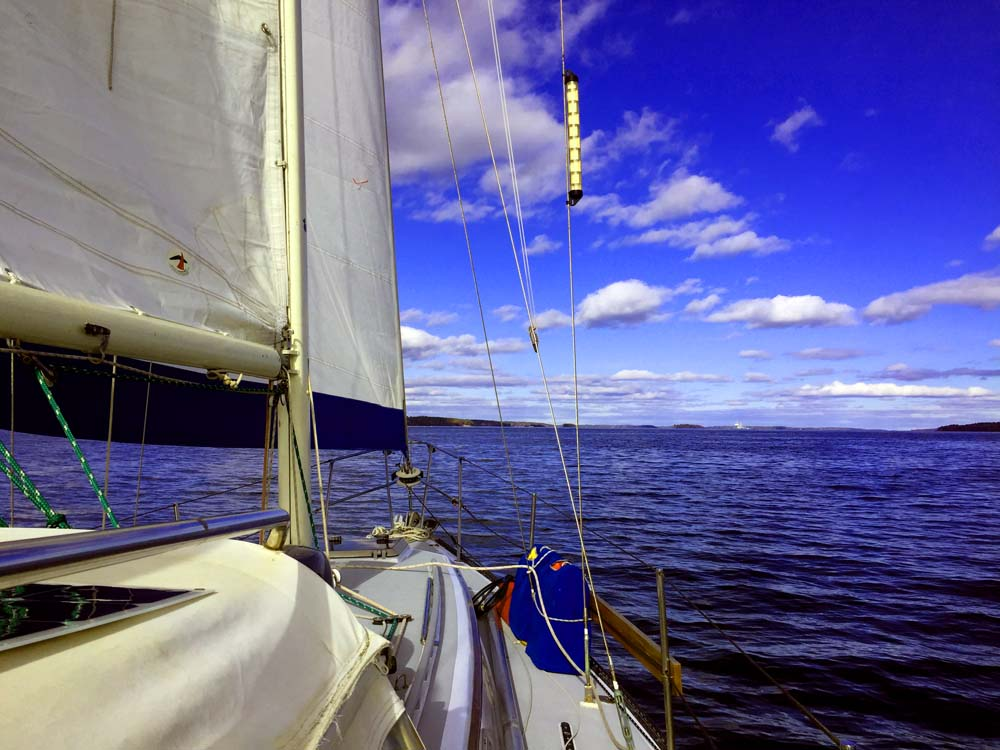 Sailing in Casco Bay