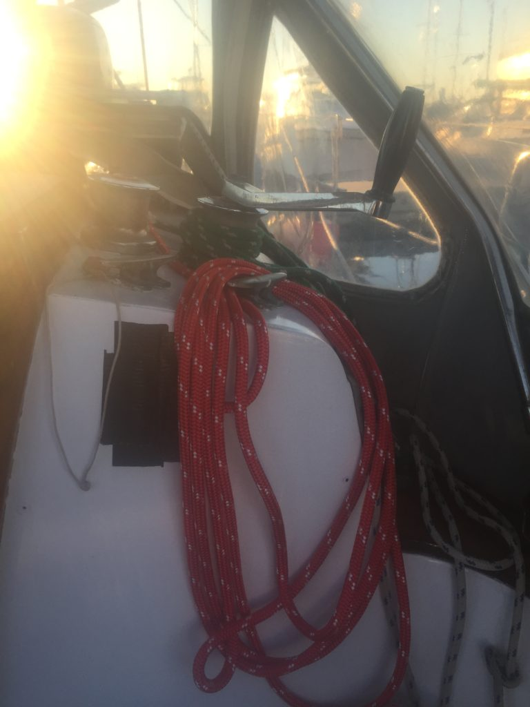 A new halyard for the lifting tackle