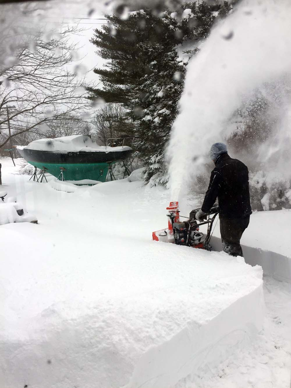 Snow-blowing is fun when you don't have to do it all the time!